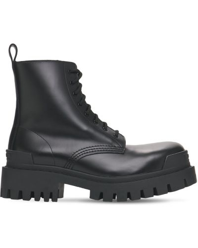 Ботильоны на шнуровке - черные Balenciaga