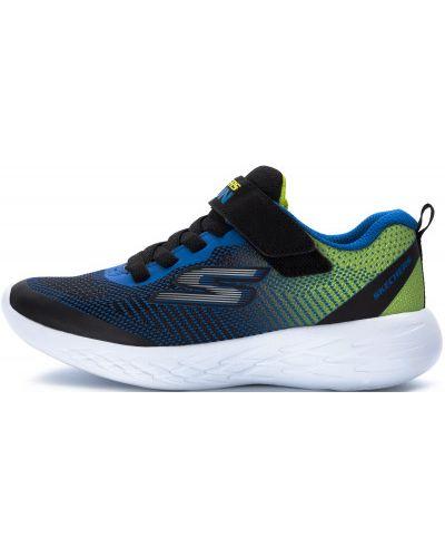 Кожаные черные кроссовки беговые для бега Skechers