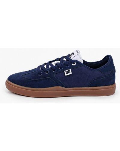 Кожаные кеды - синие Dc Shoes