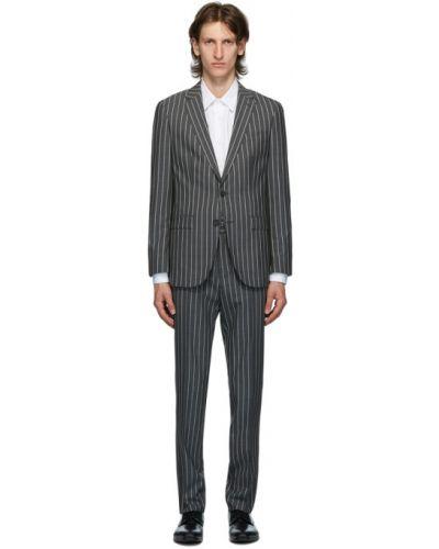 Брючный белый брючный костюм в полоску Boss