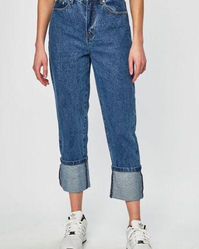 Прямые джинсы синие на пуговицах Glamorous