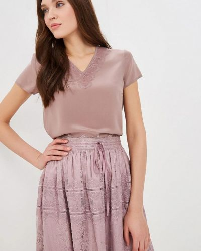 Блузка с коротким рукавом фиолетовый Lusio