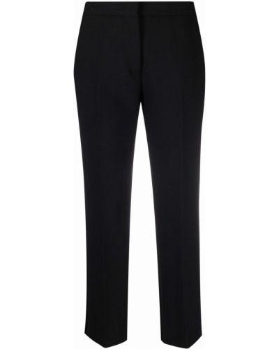 Укороченные брюки - черные Semicouture
