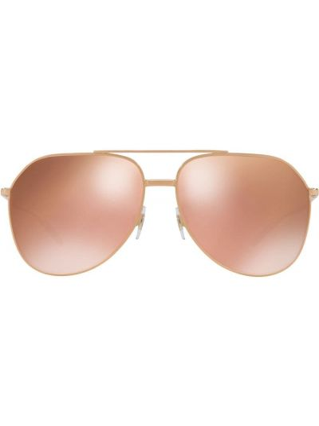 Złote okulary - różowe Dolce & Gabbana Eyewear