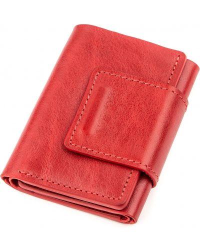 Кожаный портмоне - красный Grande Pelle