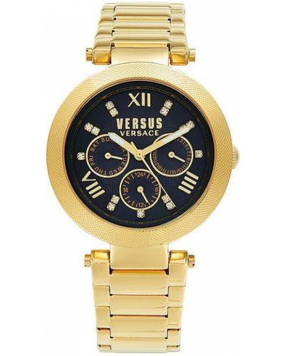 Niebieski zegarek kwarcowy srebrny Versus Versace