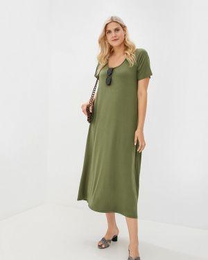 Повседневное платье зеленый Артесса