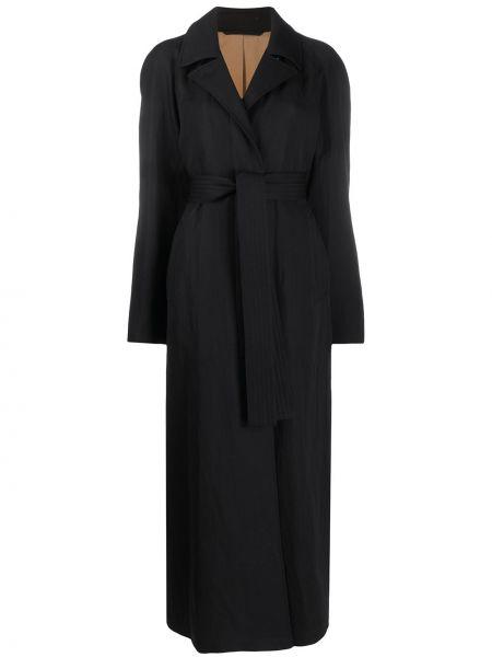 Długi płaszcz wełniany z kieszeniami Lemaire