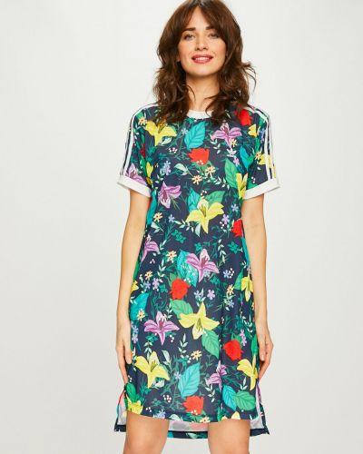 Платье мини прямое с вырезом Adidas Originals