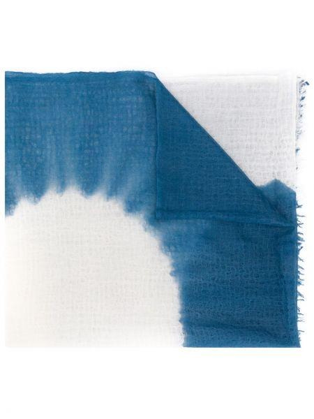 Облегченная кашемировый синий шарф Suzusan