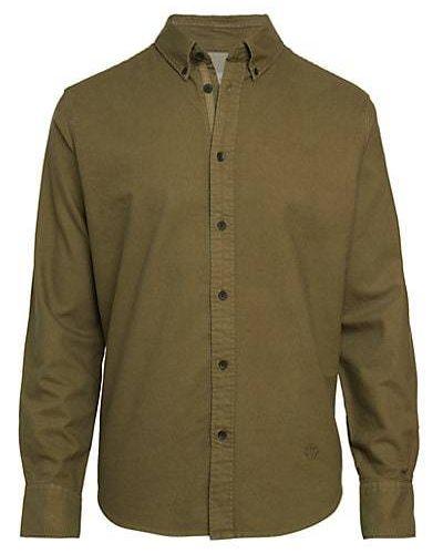 Koszula oxford bawełniana z haftem z długimi rękawami Rag & Bone