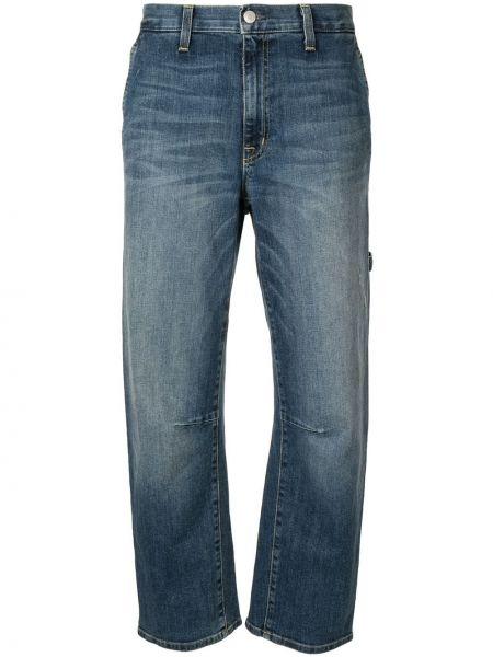 Bawełna niebieski bawełna jeansy do kostek z kieszeniami Nili Lotan