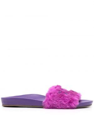 Fioletowe sandały skórzane Schutz