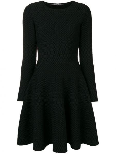 Платье макси с длинными рукавами - черное Antonino Valenti
