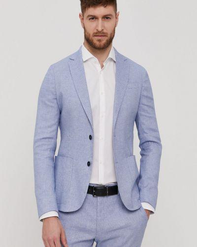 Niebieski garnitur bawełniany zapinane na guziki Marciano Guess