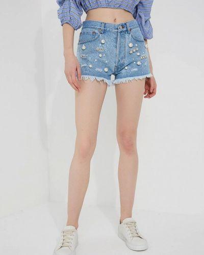Джинсовые шорты итальянский Forte Couture