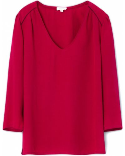 Красная блузка из вискозы Gerard Darel