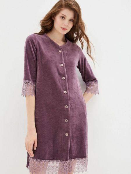 Платье платье-халат фиолетовый Lika Dress