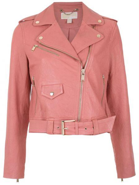 Куртка розовая из нубука Michael Michael Kors