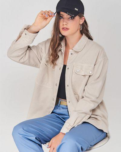 Джинсовая куртка - бежевая Karol