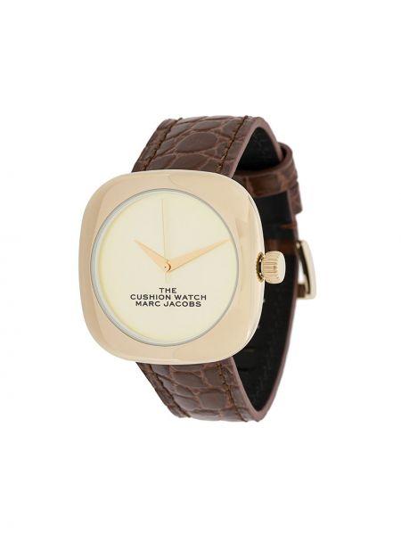 Кожаные коричневые часы на кожаном ремешке Marc Jacobs Watches