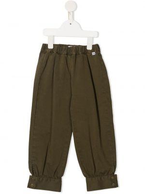 Зеленые прямые брюки с поясом Il Gufo