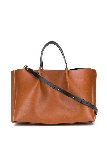 Кожаная сумка шоппер на плечо Valentino
