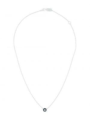 Czarny naszyjnik łańcuch srebrny Ippolita