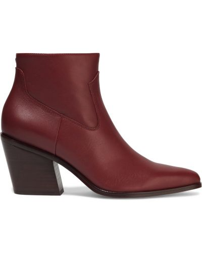 Ankle boots skorzane kaskadowe na obcasie Rag & Bone