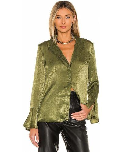 Сатиновая зеленая блузка для полных House Of Harlow 1960