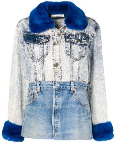 Синяя куртка пэчворк Night Market