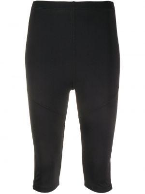 Черные укороченные брюки с поясом Styland