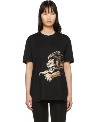 Bawełna bawełna z rękawami czarny koszula Givenchy