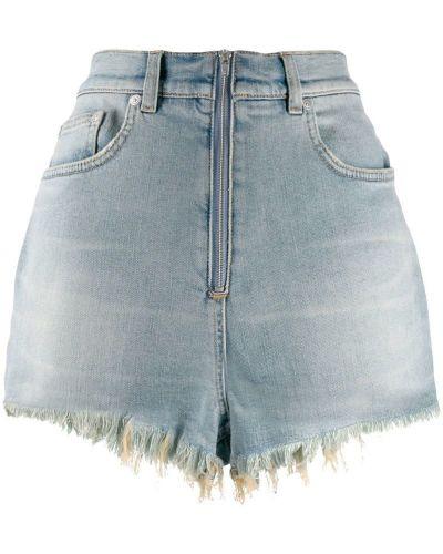 Синие джинсовые шорты с карманами со стразами Givenchy