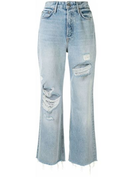 Klasyczne niebieskie jeansy z wysokim stanem Grlfrnd