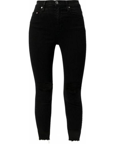 Облегающие зауженные джинсы - черные Nobody Denim