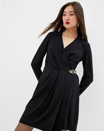 Черное платье с запахом Diane Von Furstenberg