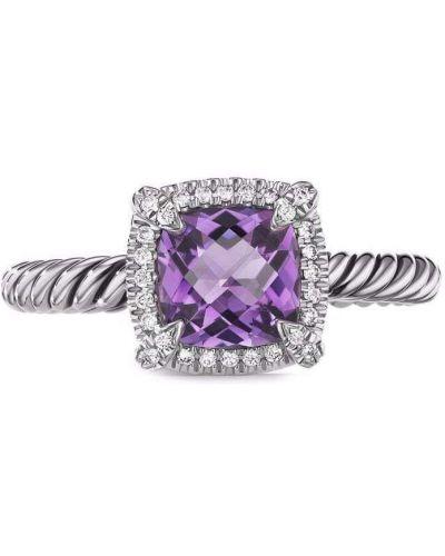 Fioletowy pierścionek ametyst David Yurman