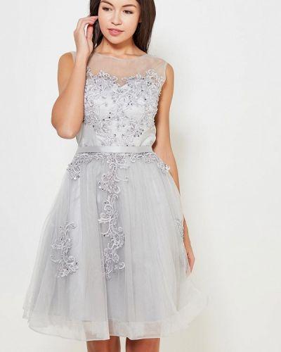 Вечернее платье серое Paccio