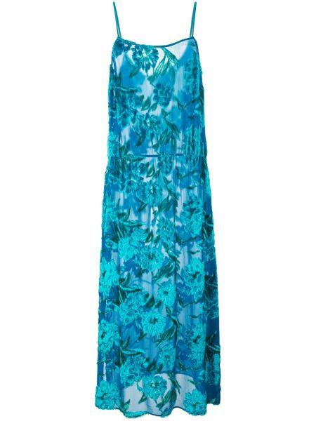 Платье миди на бретелях с цветочным принтом Fleur Du Mal