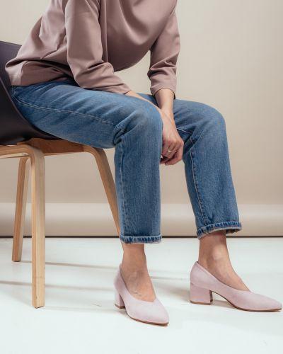Мягкие замшевые туфли на каблуке Vagabond