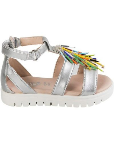 Szare sandały srebrne Florens