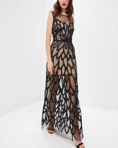 Вечернее платье осеннее черное Ricamare