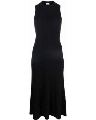 Шелковое черное платье миди с вырезом Mrz