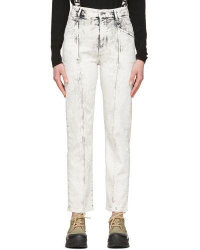 Белые джинсы с карманами свободного кроя Stella Mccartney