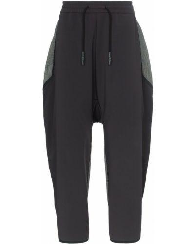 Черные укороченные брюки пэчворк Byborre