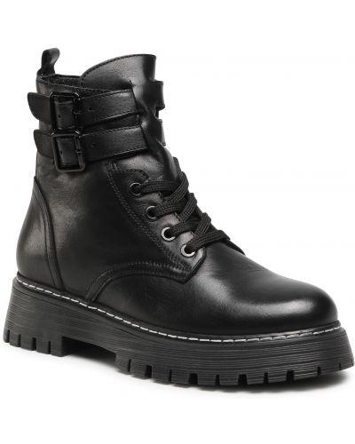 Czarny buty Badura