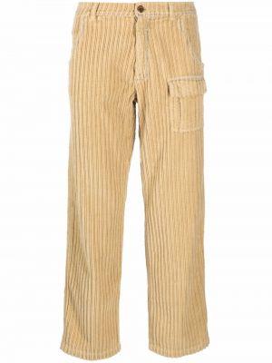 Żółte spodnie sztruksowe Erl