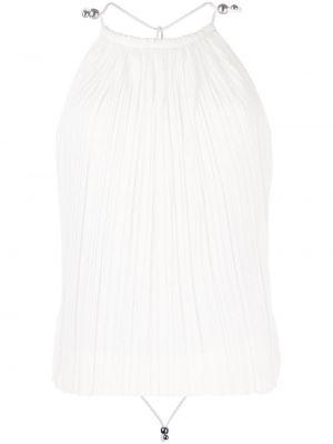Блузка с открытой спиной - белая Dion Lee