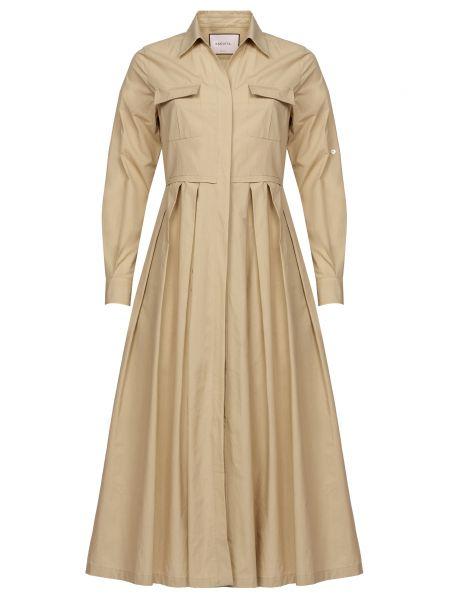 Хлопковое платье - бежевое Bagutta